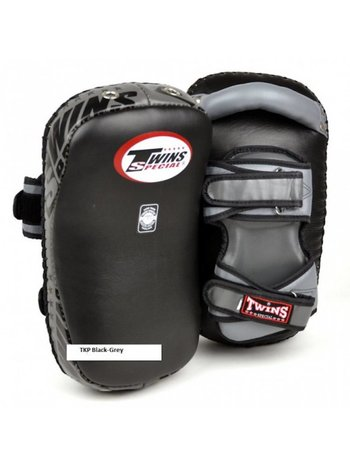Twins Special Twins Curved Arm Pads Kick Pads TKP 7 Leather Black Grey
