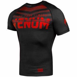 Venum Venum SIGNATURE Rashguard S/S Zwart Rood