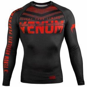 Venum Venum Kleding SIGNATURE Rash Guard L/S Zwart Rood