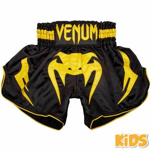 Venum Venum BANGKOK INFERNO Kids Muay Thai Short Black Yellow
