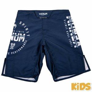 Venum Venum Signature Fight Shorts Kids Navy Blue