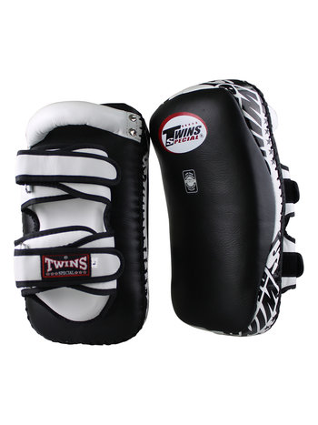 Twins Special Twins Curved Arm Pads Kick Pads TKP 6 Leder Zwart Wit