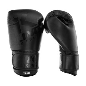 King Pro Boxing King Pro Boxing Black on Black Boxing Gloves KPB/BG 8 Leather