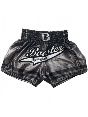 Booster Booster Kickboks Broekje Muay Thai Short TBT PRO Chaos 4 Zwart Zilver