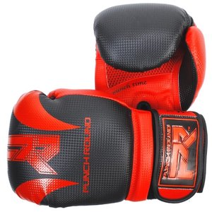 Punch Round™  Punch Round SLAM Boxing Gloves Dull Carbon Black Red