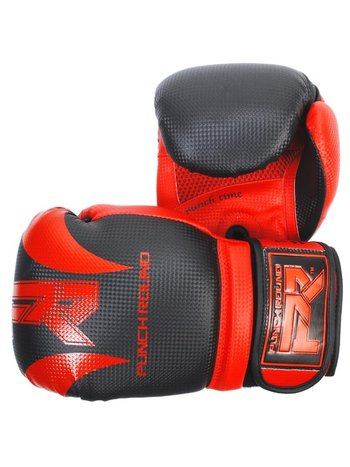 PunchR™  Punch RoundSLAMBoxing Gloves Dull Carbon Black Red
