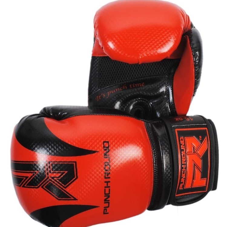 Punch Round™  Punch Round SLAM Boxing Gloves SDX Red Black