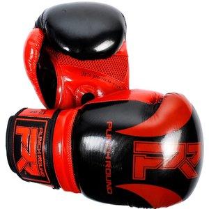 Punch Round™  Punch Round Bokshandschoenen SLAM Pin Dott Zwart Rood