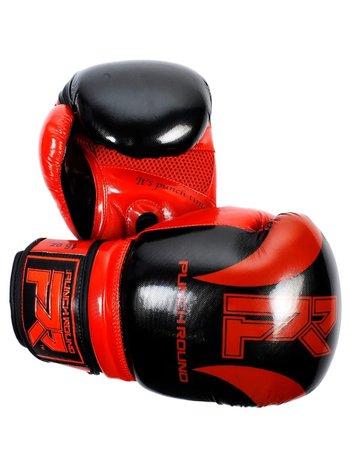 PunchR™  Punch Round SLAM Boxing Gloves Pin Dott Black Red