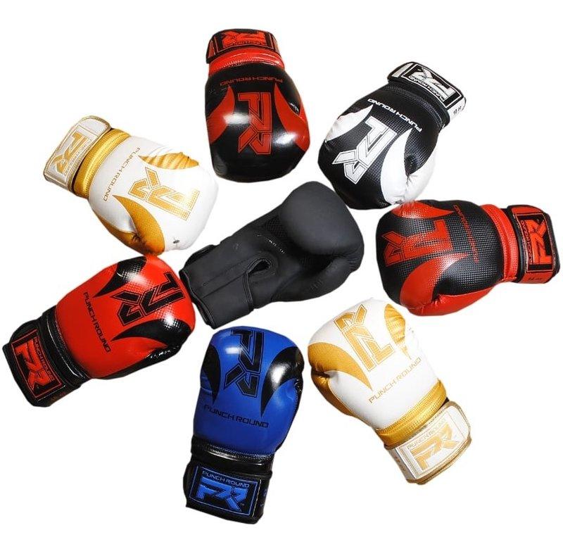 PunchR™  Punch Round SLAM Boxing Gloves Blue Black