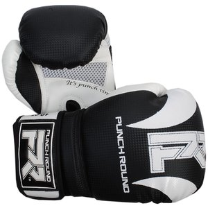 Punch Round™  Punch Round SLAM Boxing Gloves Dull Carbon Black White