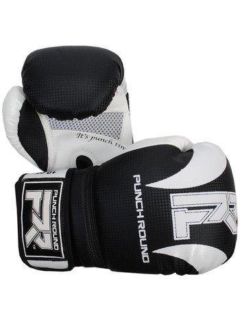 PunchR™  Punch Round Boxhandschuhe SLAM Matt Carbon Schwarz Weiß