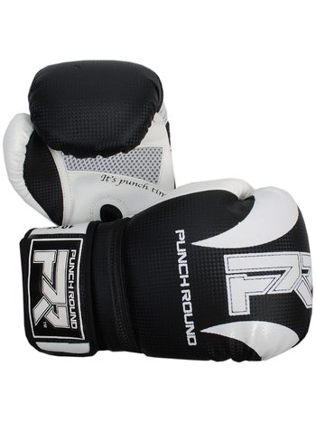 PunchR™  Punch RoundSLAMBoxing Gloves Dull Carbon Black White