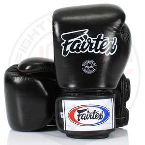 Fairtex Fairtex Muay Thai Bokshandschoenen BGV1 Black Pro Fight Gloves