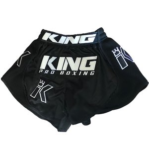 King Pro Boxing King KPB/BT X3 Pro Boxing Muay Thai Kickboxing Shorts Black