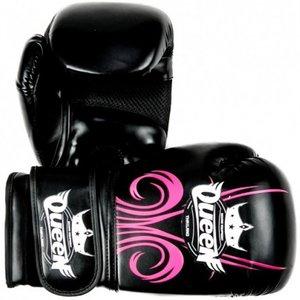 Queen Queen Ladies Boxing GlovesQBG Fantasy 3 PU Black Pink