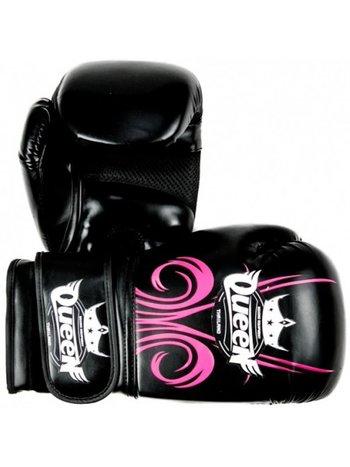 Queen Queen Damen Boxhandschuhe QBG Fantasy 3 PU Schwarz Pink