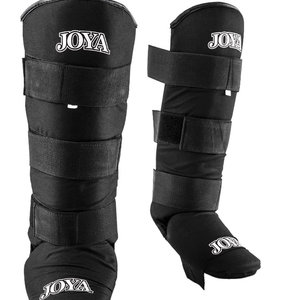 Joya Fight Wear Joya Fabric Shinguards Kickboxing Velcro Black