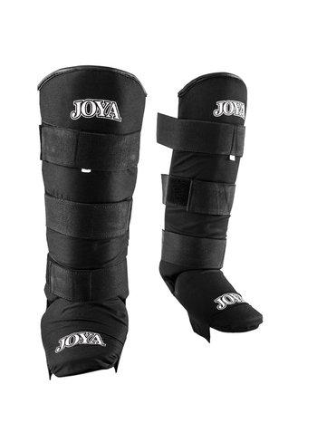 Joya Fight Wear Joya Fabric Shinguards Kickboxing Velcro Black