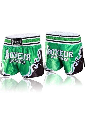 Boxeur des Rues Boxeur Kickboks Broekje Muay Thai Short Tribal Symbols Groen