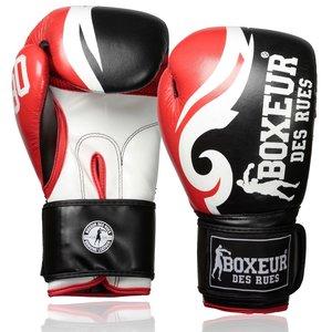 Boxeur des Rues Boxeur des Rues Boxing Gloves Trible Red Leather