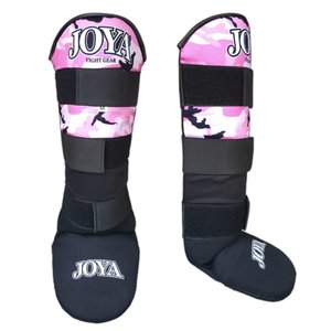Joya Fight Wear Joya Shinguards Kickboxing Velcro Black Pink