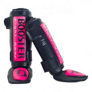 Booster Booster Thai Striker Kickboxing Scheenbeschermers Pink Booster Fightgear