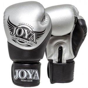 Joya Fight Wear JoyaBoxing Gloves Pro Thai Silver Black byJoya Fightgear