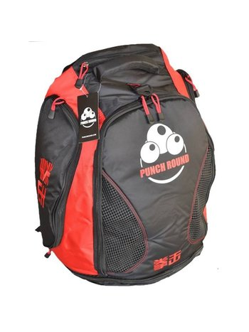 PunchR™  Punch Round™ Boxing Sporttas Rugtas Gym Bag Black Red