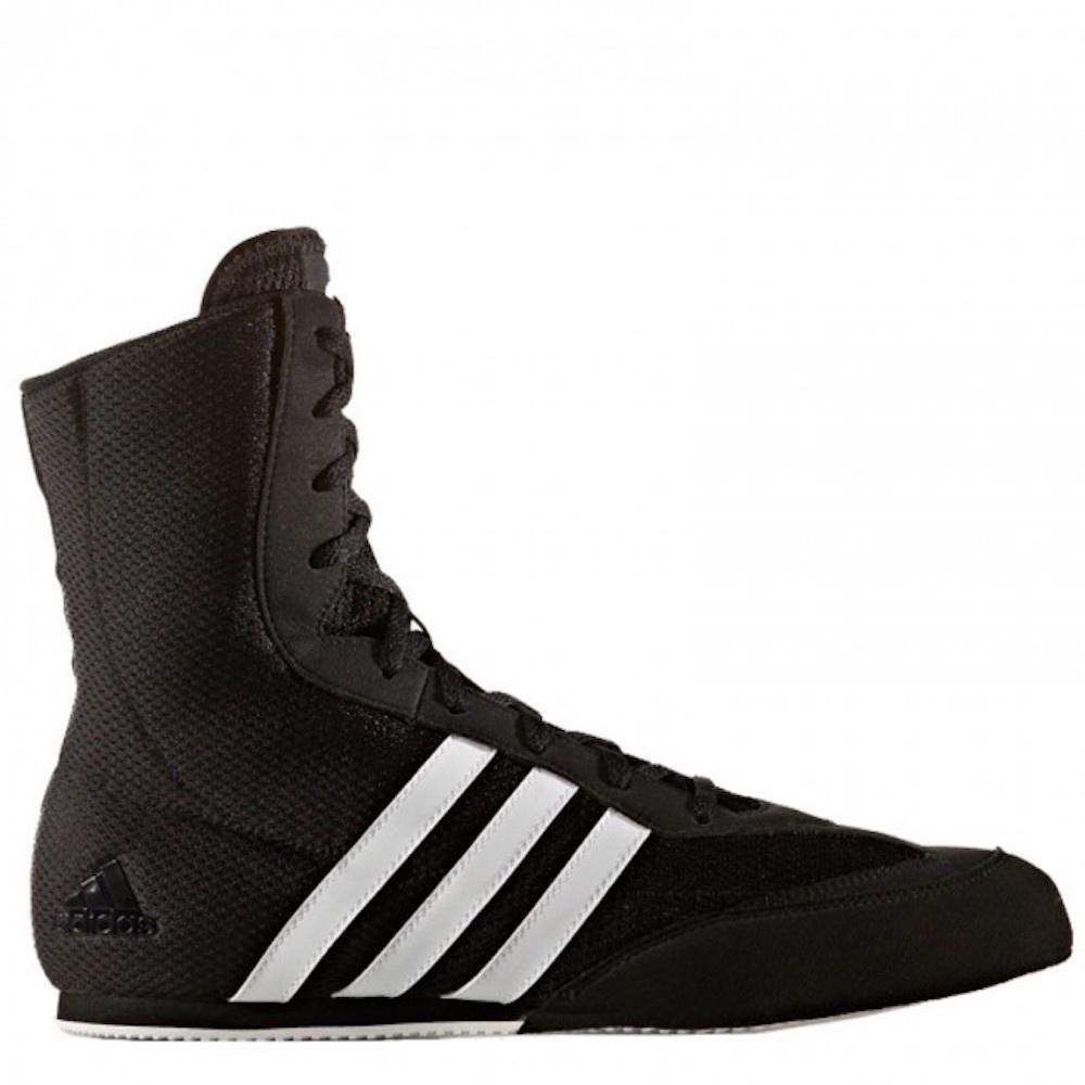 Necesario corte largo clásico  Adidas Boxing Shoes Box-Hog 2 Black White - FIGHTWEAR SHOP EUROPE