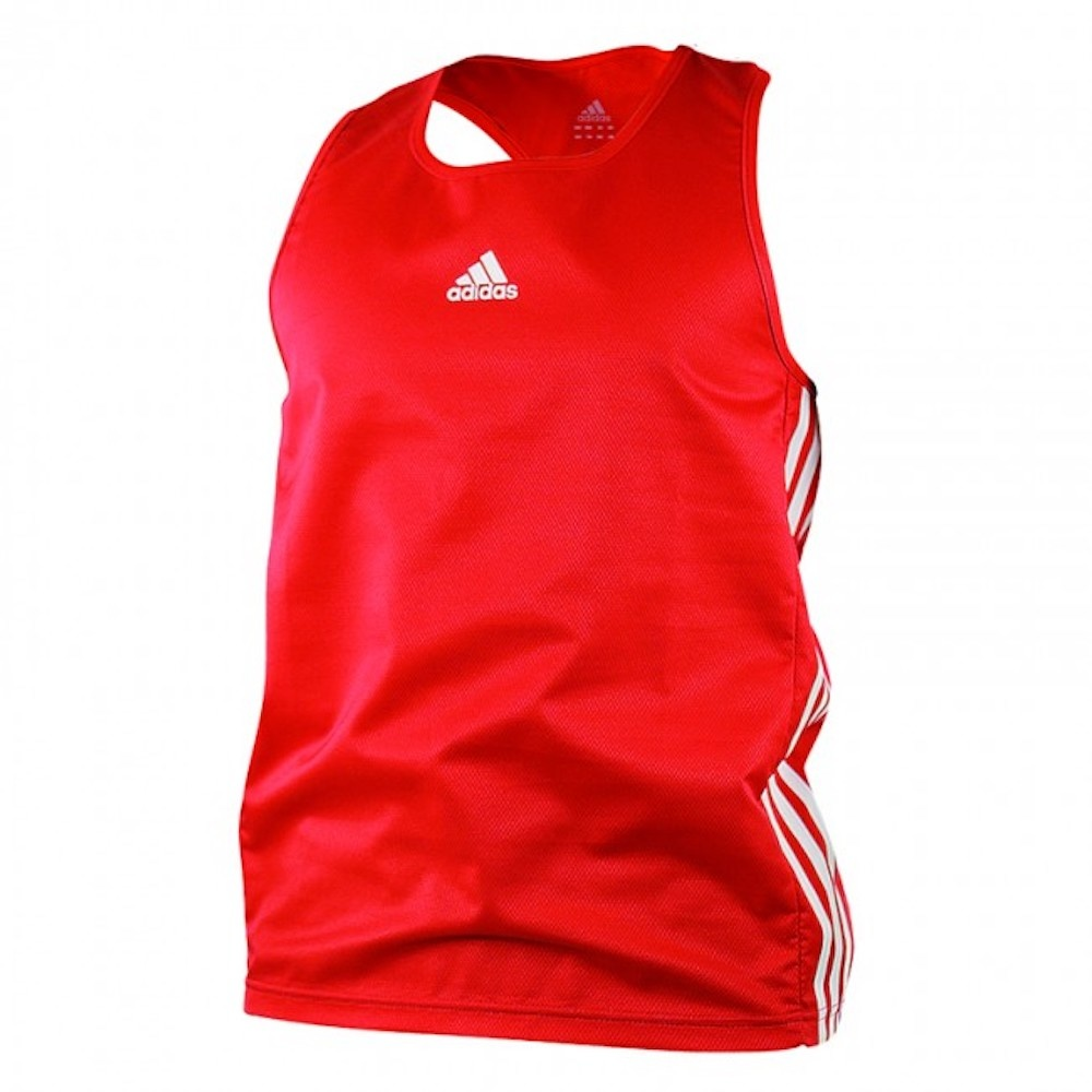 c587980008c Adidas Amateur Boxing Tank Top Lightweight Rood Wit - FIGHTWEAR SHOP ...