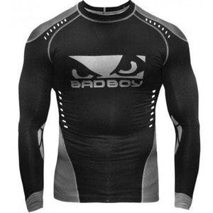Bad Boy Bad Boy Sphere Kompressions Shirt Rash Guard L/A Schwarz Grau