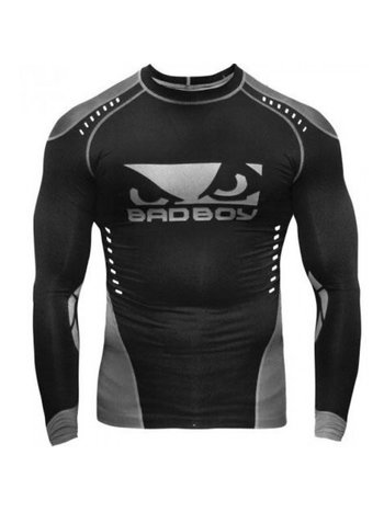 Bad Boy Bad Boy Sphere Compressie Top Rash Guard L/S Zwart Grijs