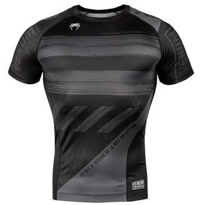 Venum Venum Amrap Rash Guard S/S Black Grey Compression Shirts Venum