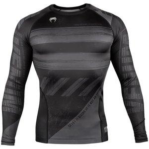 Venum Venum Amrap Rash Guard L/S Black Grey Compression Shirts Venum