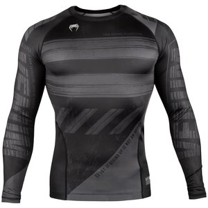 Venum Venum Amrap Rash Guard L/S Zwart Grijs Compressie Shirts Venum