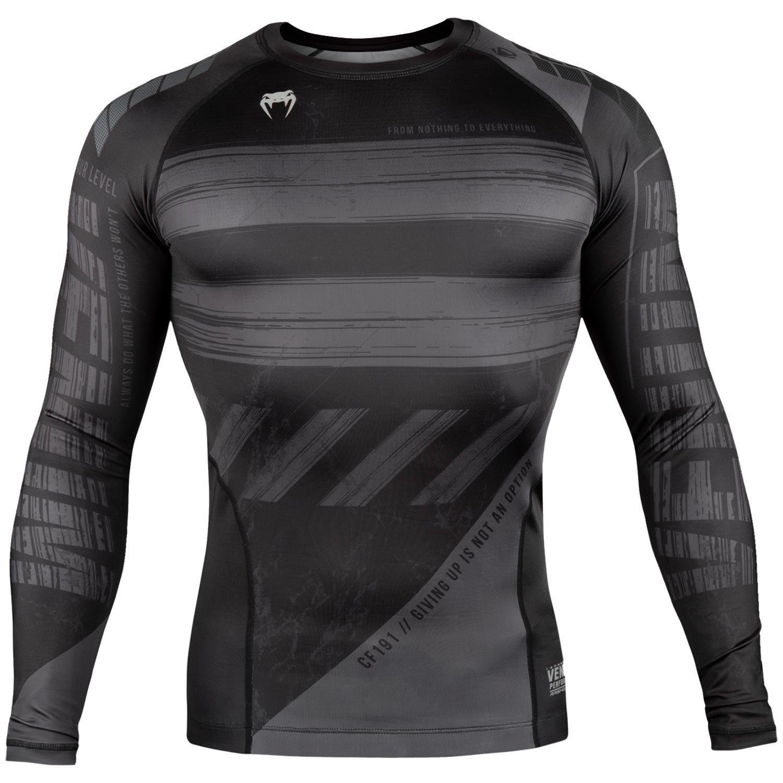 fc24e56cac Venum Amrap Rash Guard Black Grey | Compression Shirts Venum ...