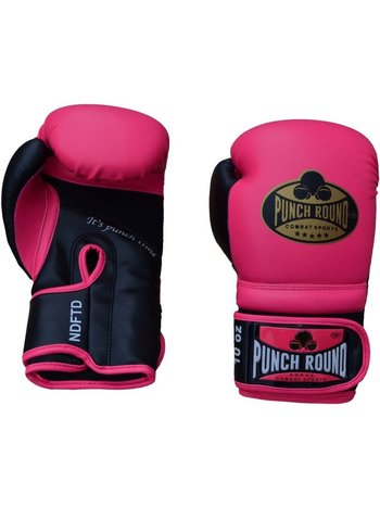 PunchR™  Punch Round Boxing Gloves Combat Sport Pink Gold