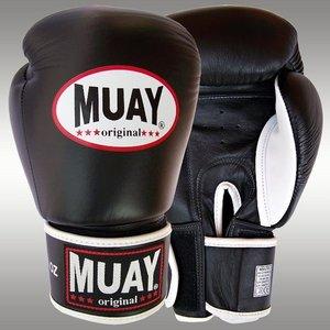 MUAY® MUAY® Original Leder Bokshandschoenen Zwart Wit