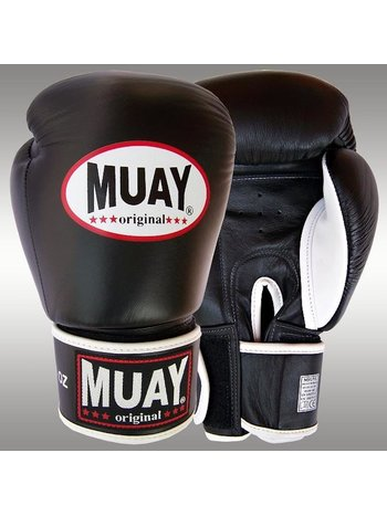 MUAY® MUAY Premium Boxhandschuhe aus Leder Schwarz Silber - Copy