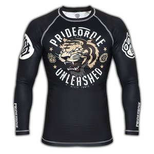 Pride or Die PRiDE of DiE Unleashed L/S Rash Guard Black