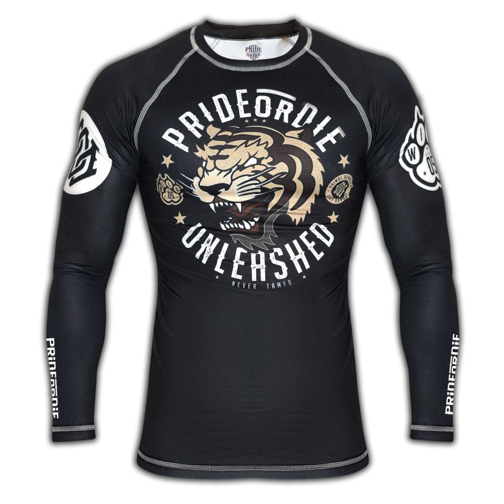 Pride Or Die Rashguard HANG LOOSE in Schwarz Funktionsshirt S M L XL 2XL 3XL MMA