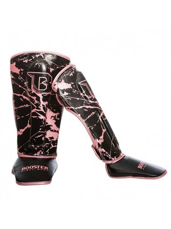 Booster Booster SG Youth Kickboxing Shin Guards Marble Pink
