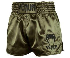 Khaki//Black Venum Classic Muay Thai Shorts