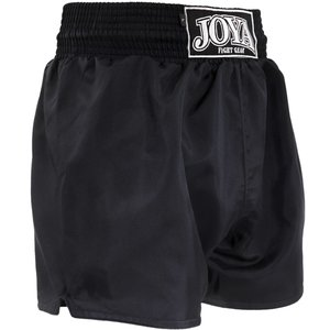 Joya Fight Wear Joya Plain 023 Muay Thai Kickboxing Shorts Zwart