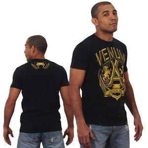 Venum Venum José Aldo Lion T-Shirt Schwarz Gelb Venum Kleidung