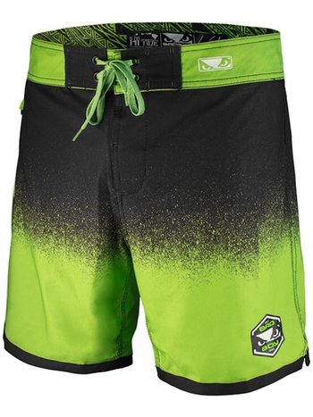 Bad Boy Bad Boy HI-TIDE Hybrid Zwem- Training Shorts Zwart Groen