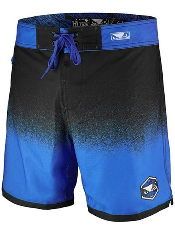 Bad Boy Bad Boy HI-TIDE Hybrid Zwem- Training Shorts Zwart Blauw