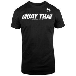 Venum Venum MUAY THAIVT T-Shirts Black White Kickboxing Clothing