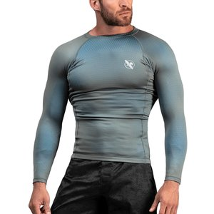 Hayabusa Hayabusa Fusion Rash Guard Long Sleeve Grey Aqua